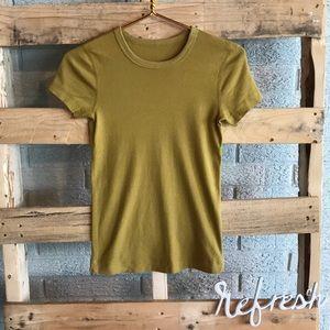 Three Dots Burnt Yellow T-Shirt